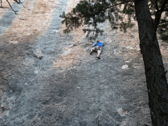 Rock Climbing Photo: .12 slabbin