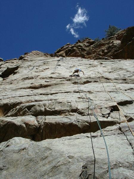 Rock Climbing Photo: Phil P enjoying the 'Tease, 4-2-11.