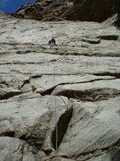 Rock Climbing Photo: Phil enjoying MM, 4-2-11.