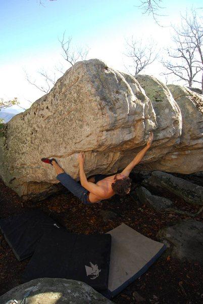 Rock Climbing Photo: Austins Seam (V7)