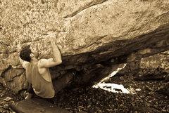 "Rock Climbing Photo: Aaron James Parlier on ""Austins Seam""(V7..."