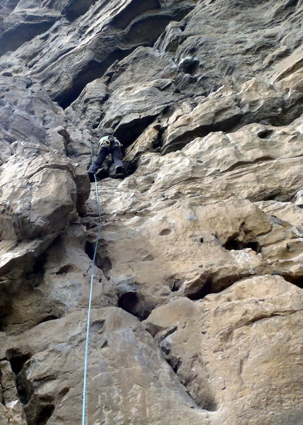 Rock Climbing Photo: Anja on Footsteps of Our Ancestors. Low Mountain -...