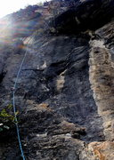 Rock Climbing Photo: The short pitch 2 of Monkey King Yangshou