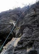 Rock Climbing Photo: Topping out on pitch 5.  Monkey King Yangshuo.