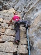 Rock Climbing Photo: Climbing the wall to start Clean Jean.  Yangshuo C...