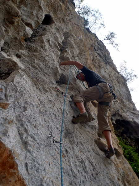 Rock Climbing Photo: Ken on Team Sweden.  Yangshuo China.