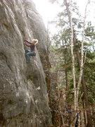 Rock Climbing Photo: Abby cruising on WWJD