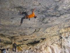 Rock Climbing Photo: Luke Ross working it.