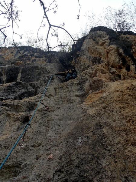 Rock Climbing Photo: Jie Jie Hua at White Mountain Yangshuo China