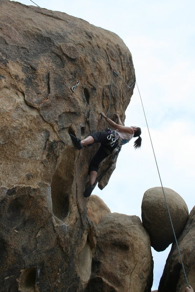 Rock Climbing Photo: A look up Rise and Devour with Agina Sedler.