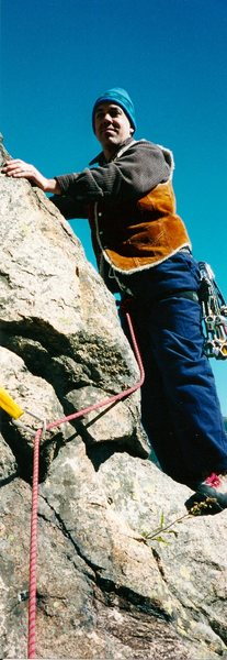 Rock Climbing Photo: Starting the 2nd pitch. .