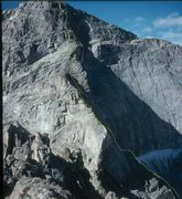 Rock Climbing Photo: The Central Rib of Chiefshead.  The NW face is vis...