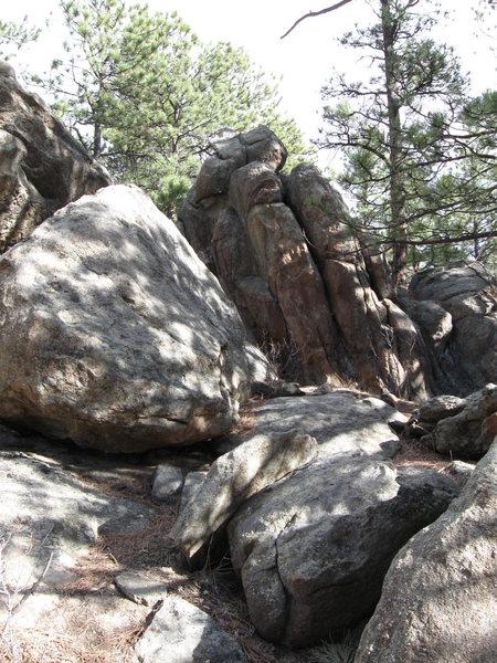 Fox Block as seen from Hidden Fawn Trail.