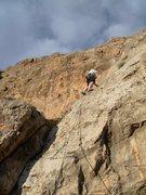 Rock Climbing Photo: Tyson on his way up Redolence
