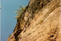 Rock Climbing Photo: Scanned photo of myself at the merger of 'Cherry P...