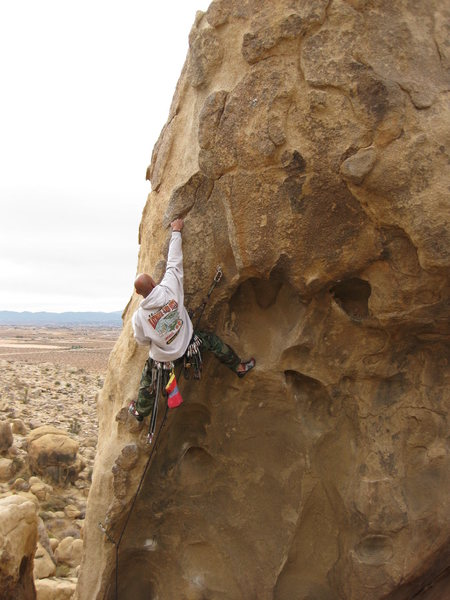 Rock Climbing Photo: Working Necessary evil