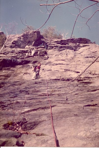 Rock Climbing Photo: Scanned photo Head for the biggest ceiling via the...