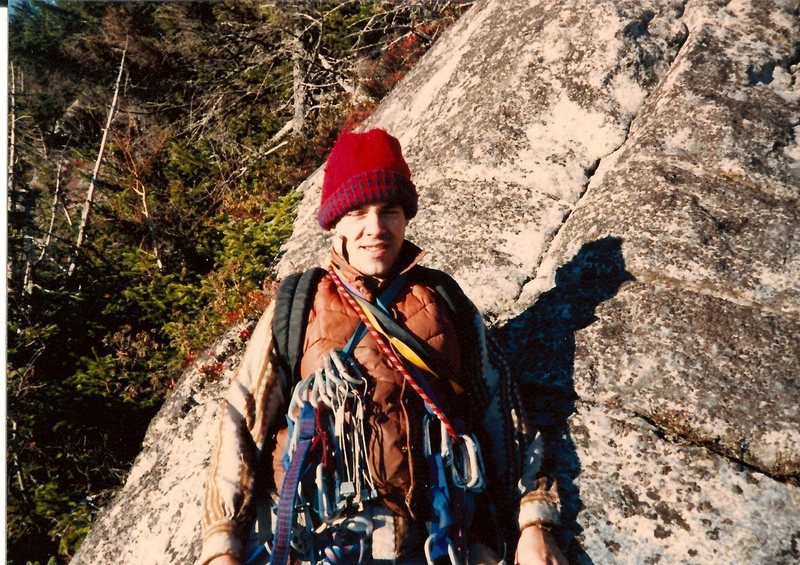 Scanned photo. I'm at the base in the morning. Partied all night before with the photographer Jim Shimberg.