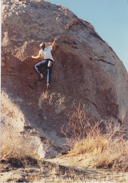 """Greased Lightning has long been a classic """"moderate"""" on this boulder"""