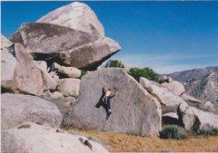 """Rock Climbing Photo: FA of """"Black Dot"""" boulder circa late 198..."""