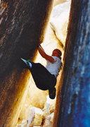 Rock Climbing Photo: Jeff Ludwig on The Bat Roof