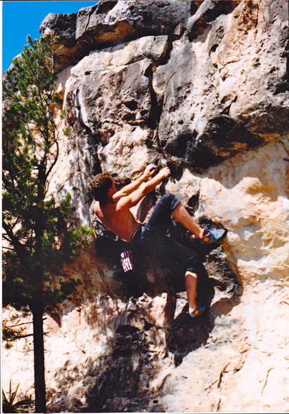 Rock Climbing Photo: Jon Bernhard on Pick Pocket back in the day.