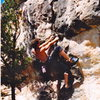 Jon Bernhard on Pinch Overhang back in the day.