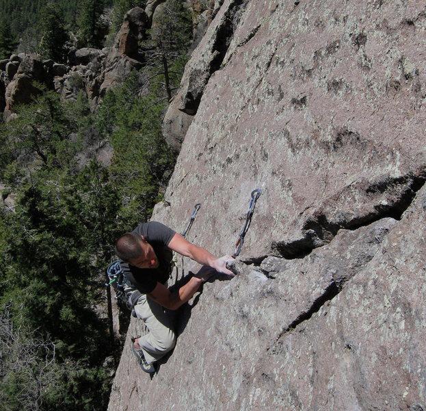 Rock Climbing Photo: Wade enjoying some freakishly good holds on the st...