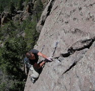 Rock Climbing Photo: Wade enjoying some freakishly good holds on the st...