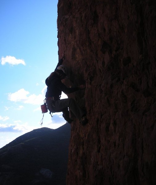 Rock Climbing Photo: Irish Car Bomb in silhouette on a late afternoon i...