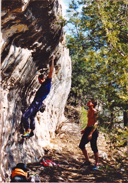 Dave Gershwin and John Bernhard trying to emulate Rob on Booze Pig V6, back in the early 90's.