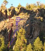 Rock Climbing Photo: Lucky beta.