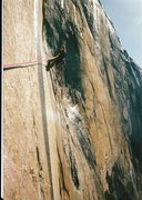Rock Climbing Photo: Lowering out on the Mescalito... '94