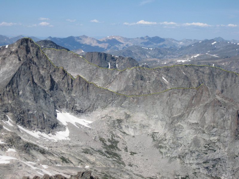 Rock Climbing Photo: Most of the traverse.  The summits of Arrowhead an...