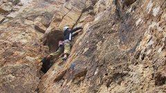 Rock Climbing Photo: 06MAR11 Shelf Road Climbing (Piggy Bank) My first ...