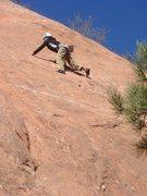 Rock Climbing Photo: 23MAR11 Red Rock Canyon Open Space Celena leading ...