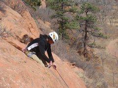 Rock Climbing Photo: 23MAR11 Red Rock Canyon Open Space Celena setting ...