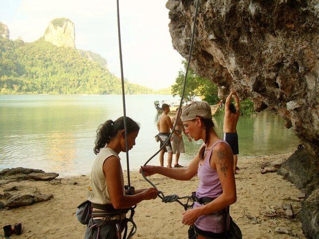 Rock Climbing Photo: 2009 Trip to Thailand, Ko Phi Phi & Railay Belay R...