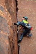 Rock Climbing Photo: Dental Floss Tycoon climbing on the lower part thr...
