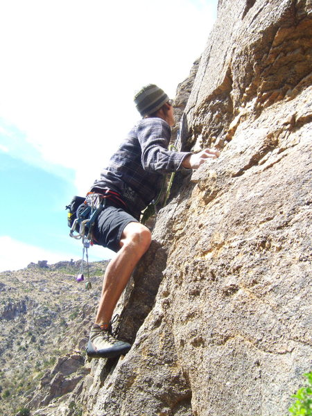 Rock Climbing Photo: Route right of Yurt Monkey