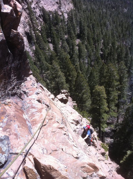 Rock Climbing Photo: Climbing the first pitch