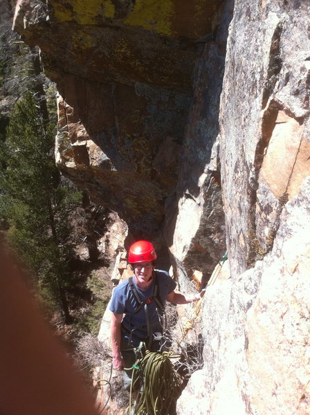 At the pitch 1 belay
