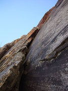 Rock Climbing Photo: the squeeze chimney portion of P1