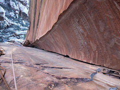 Rock Climbing Photo: looking down P3