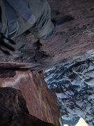 Rock Climbing Photo: looking down P4