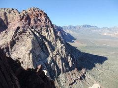 Rock Climbing Photo: great views across oak creek canyon