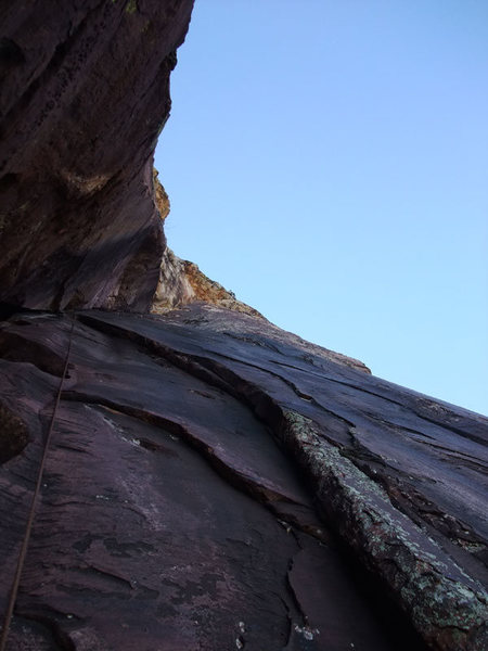 Rock Climbing Photo: the final roof that ends P5