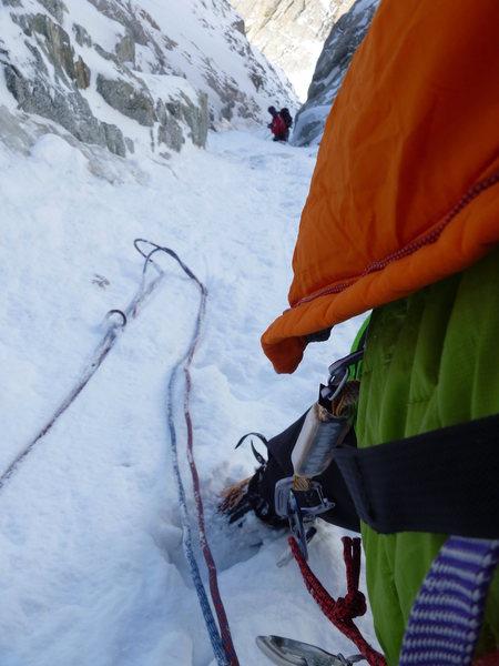 Rock Climbing Photo: Atom SV in use @ -20C