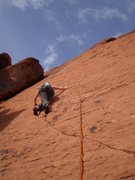 Rock Climbing Photo: Mary showing that this face requires some good foo...