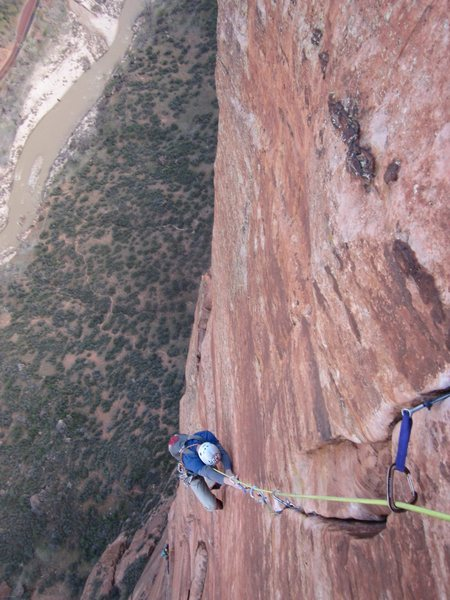 Rock Climbing Photo: Following the last part of the nutting pitch with ...